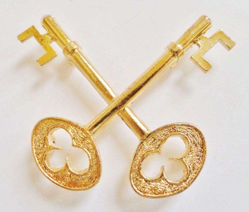cross keys to heaven gilded orange order symbol for collarette wg057 33896 p